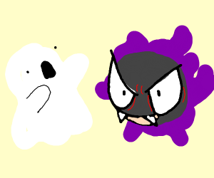 Gastly scares a real ghost