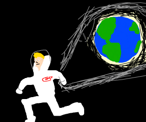 Spaceman stole the earths ring (gollum like)