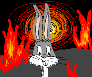 Bugs Bunny in hell