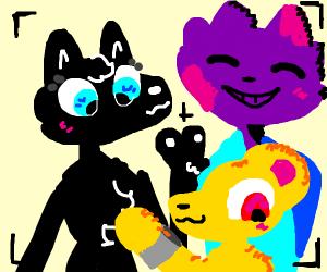 Group of Furries take selfie