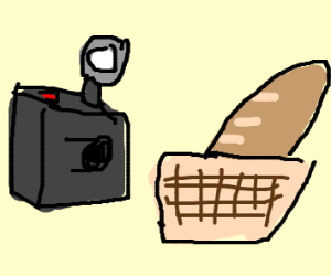 Camera takes picture of bagette