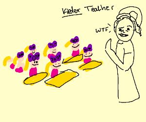 Kindergarten but all kids are JoJos