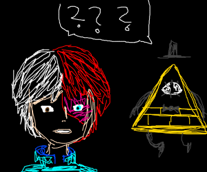 Todoroki and Bill Cipher are confused