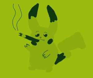 pikachu smoking weed