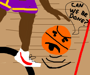 sentient basketball gets dribbled