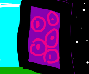 many eyed minecraft portal leads to space