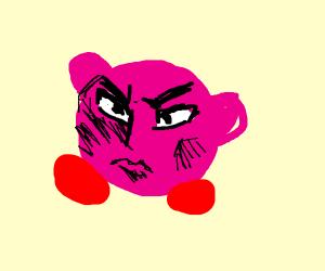 Kirby makes dramatic anime face