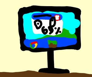 A derpy PC computer error at 69 percent