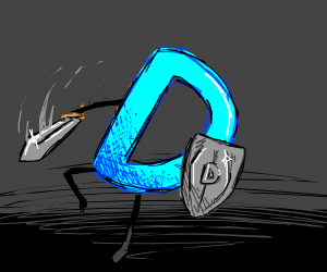 drawception with a sword and shield