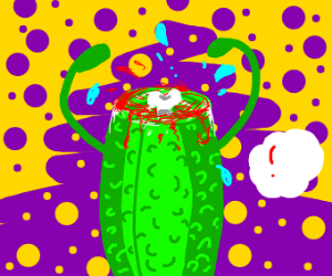 pickle with head cut off
