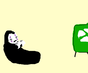 No-Face from Spirited Away plays Xbox