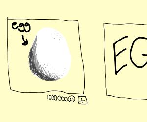 Drawception panel of egg gets a million likes