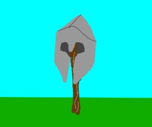 Helmet on a stick