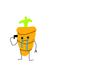 A carrot that wants to die