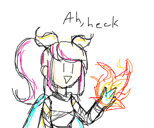 my hand's on fire