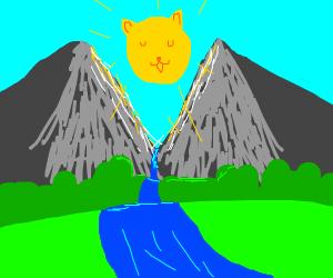The sun as a cat UwU