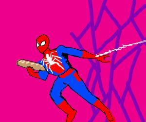 spiderman stole the baguette again!!!