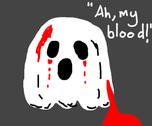 ghost with eye hemorrhages blood