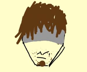 perfectly symmetrical face shaggy hair guy