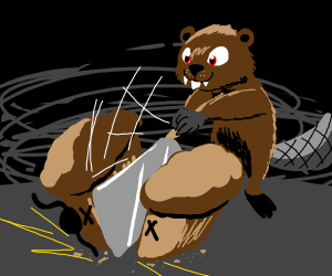 Cleaver Beaver stalks Trouble Muffin
