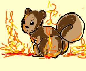 burning squirrel
