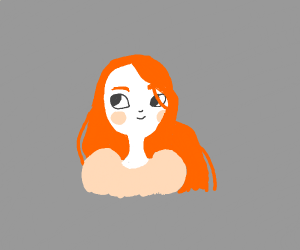 Ginger hair with puff sleeves