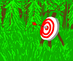 bulls eye arrow on a target