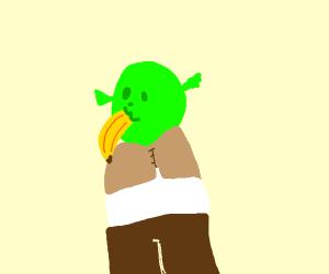 Orc eat banan