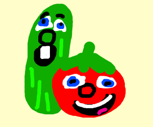 "Bob and Larry from ""VeggieTales"""