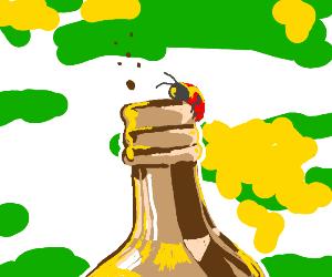 Ladybug and her booze