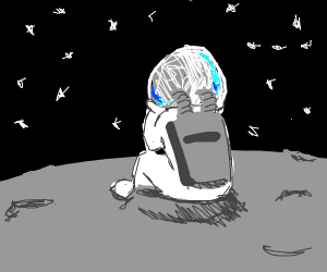 Alone on the moon (astronaut)