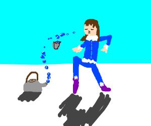 Bender drinks tea