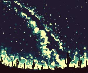 the desert at night!