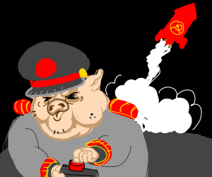 Angry pig fires communist rocket