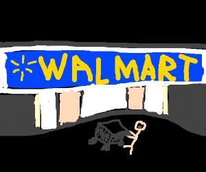 going to walmart