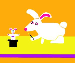 magician bunny anthropomorphic rabit