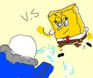 Sans undertale Vs Spongebob