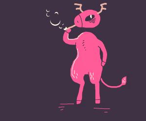 Smoking Demon Deer