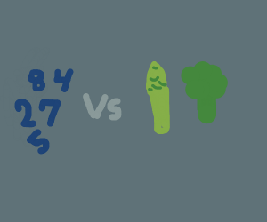 Numbers VS Vegetables