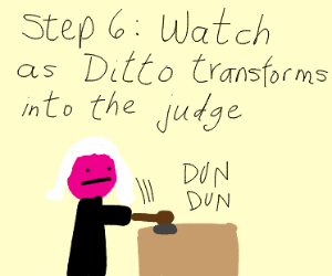 Step 5: Take Ditto to court