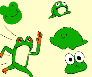There are too many frogs in this panel