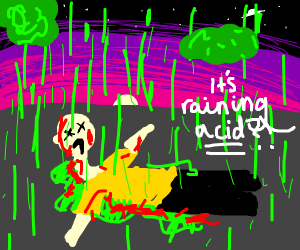 Acid rain kills a man