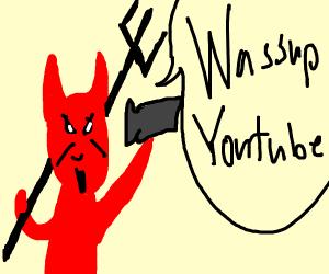devil making a vlog