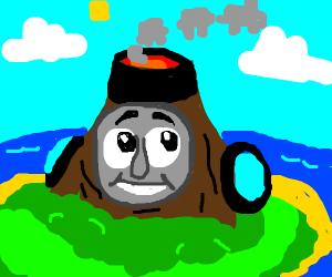 Thomas the volcano