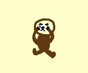Poor sloth hurt is nose