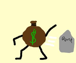 Burglar gets away with the money