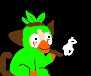 Grooky smoking a joint