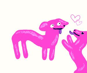 pink doglike love <3