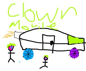 An opposite clown car