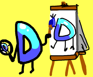 Mr drawception doing a self portrait